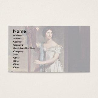 Retrato de Eliza Ridgely (la señora With The Harp) Tarjetas De Visita