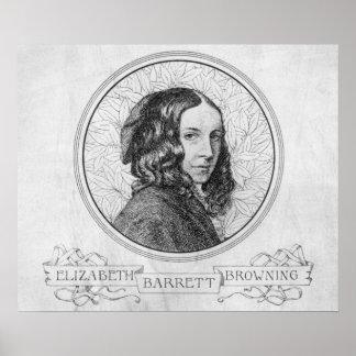 Retrato de Elizabeth Barrett Browning Póster