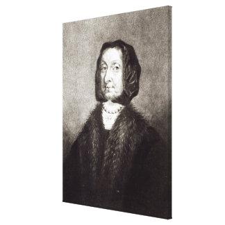 Retrato de Elizabeth Cromwell Impresión En Lienzo