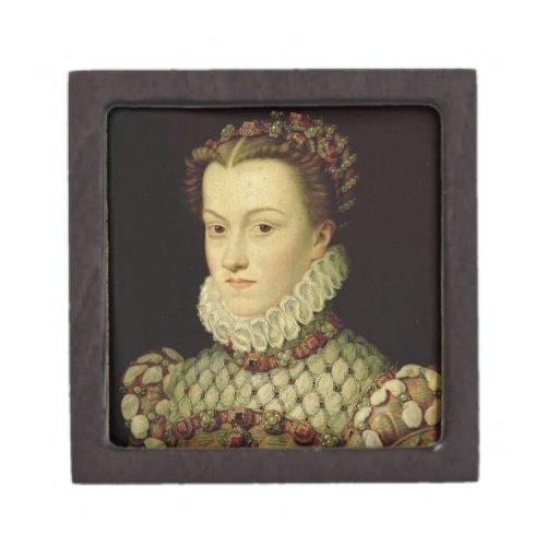 Retrato de Elizabeth de 1554-92) reinas o de Austr Cajas De Regalo De Calidad