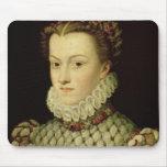 Retrato de Elizabeth de 1554-92) reinas o de Austr Mouse Pad