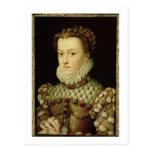 Retrato de Elizabeth de 1554-92) reinas o de Postal