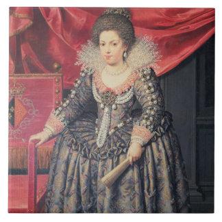 Retrato de Elizabeth de 1602-44) hijas de Francia  Azulejo Cuadrado Grande
