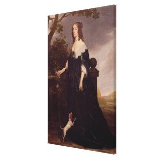 Retrato de Elizabeth, reina de Bohemia Impresión En Lienzo Estirada