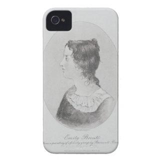 Retrato de Emily Bronte (1818-48) grabado por Wal Case-Mate iPhone 4 Fundas