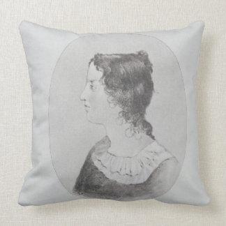 Retrato de Emily Bronte (1818-48) grabado por Wal Cojines