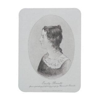 Retrato de Emily Bronte (1818-48) grabado por Wal Imán Flexible