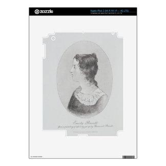 Retrato de Emily Bronte (1818-48) grabado por Wal iPad 3 Pegatina Skin