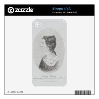 Retrato de Emily Bronte (1818-48) grabado por Wal iPhone 4S Skins