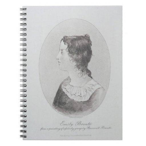 Retrato de Emily Bronte (1818-48) grabado por Wal Libro De Apuntes Con Espiral
