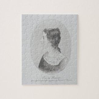 Retrato de Emily Bronte (1818-48) grabado por Wal Rompecabeza