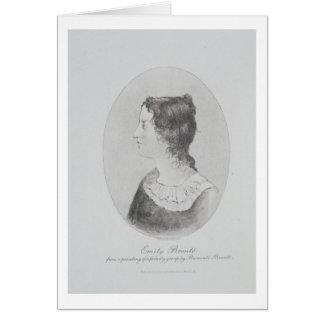 Retrato de Emily Bronte (1818-48) grabado por Wal Felicitación