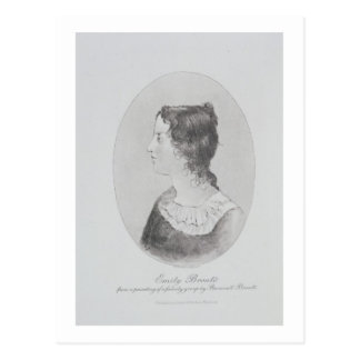 Retrato de Emily Bronte (1818-48) grabado por Wal Tarjeta Postal