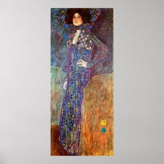 Retrato de Emily Floge de Gustavo Klimt Póster
