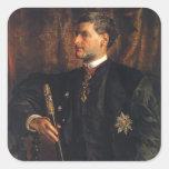 Retrato de enero Matejko- de Alfred Potocki Colcomanias Cuadradas Personalizadas
