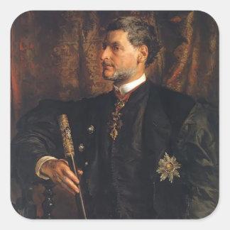 Retrato de enero Matejko- de Alfred Potocki Colcomania Cuadrada