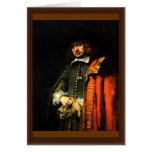 Retrato de enero seis de Rembrandt Harmensz. Van Tarjetas