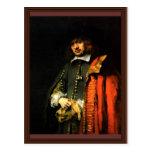 Retrato de enero seis de Rembrandt Harmensz. Van Tarjeta Postal