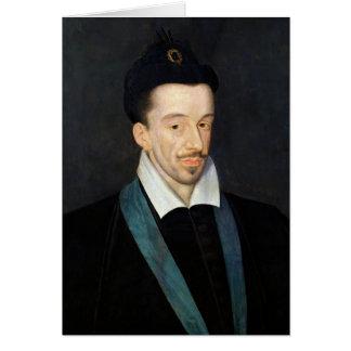 Retrato de Enrique III Tarjeta De Felicitación