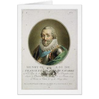 Retrato de Enrique IV, rey de Francia y de Navarra Tarjeta De Felicitación