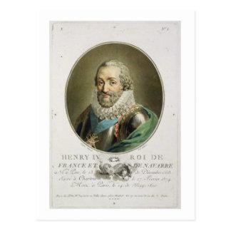 Retrato de Enrique IV, rey de Francia y de Navarra Tarjetas Postales
