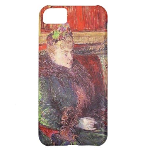 Retrato de Enrique Lautrec- de señora de Gortzikol Funda Para iPhone 5C