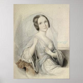 Retrato de Enriqueta Gertrudis Sontag Posters