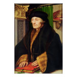 Retrato de Erasmus, 1523 Posters