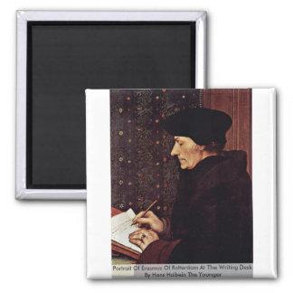 Retrato de Erasmus de Rotterdam Imán Cuadrado