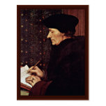 Retrato de Erasmus de Rotterdam Postal