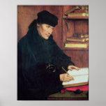 Retrato de Erasmus de Rotterdam Póster