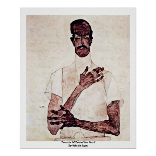 Retrato de Erwin Von Graff By Schiele Egon Póster