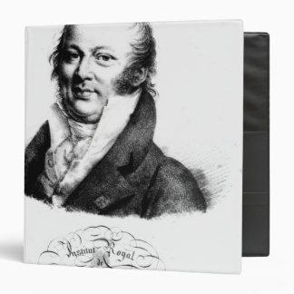 """Retrato de Etienne Geoffroy Santo-Hilario Carpeta 1 1/2"""""""