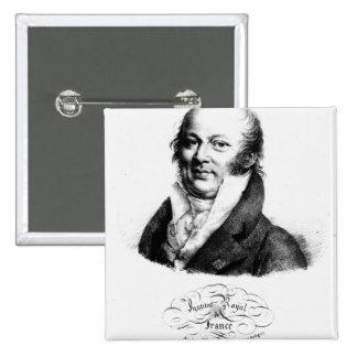 Retrato de Etienne Geoffroy Santo-Hilario Pin Cuadrado