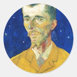 Retrato de Eugene Boch Pegatina Redonda