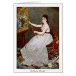 Retrato de Eva Gonzales en el estudio Manet Tarjetón