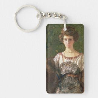 Retrato de Ewfimia Nosova, 1911 Llavero Rectangular Acrílico A Doble Cara
