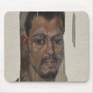 Retrato de Fayum (cera del encaustic en la madera) Tapete De Ratón