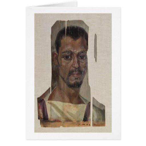 Retrato de Fayum (cera del encaustic en la madera) Tarjetas