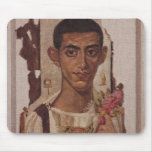 Retrato de Fayum de Ammonius, de Antinoe Tapete De Ratones