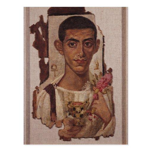 Retrato de Fayum de Ammonius, de Antinoe Tarjetas Postales