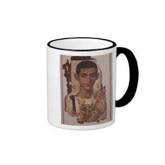 Retrato de Fayum de Ammonius, de Antinoe Tazas De Café