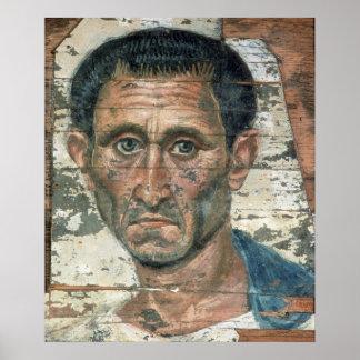 Retrato de Fayum de un hombre en una capa azul, Póster