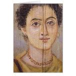 Retrato de Fayum de una mujer Felicitaciones