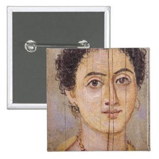 Retrato de Fayum de una mujer Pin Cuadrada 5 Cm