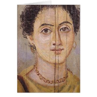 Retrato de Fayum de una mujer Tarjeta De Felicitación