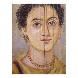 Retrato de Fayum de una mujer Tarjeta Postal