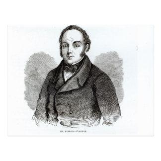 Retrato de Feargus O'Connor Tarjeta Postal