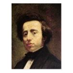 Retrato de Federico Chopin 2 Postal