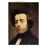 Retrato de Federico Chopin 2 Tarjeta De Felicitación
